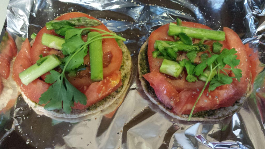 Add Asparagus, Fresh Parsley and Additional Tomato