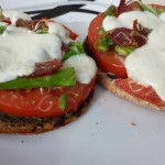 Healthy Whole Wheat Pesto Caprese Mini Pizzas