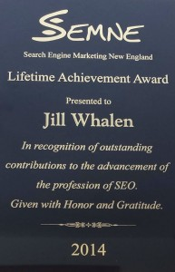 SEMNE Award to Jill Whalen