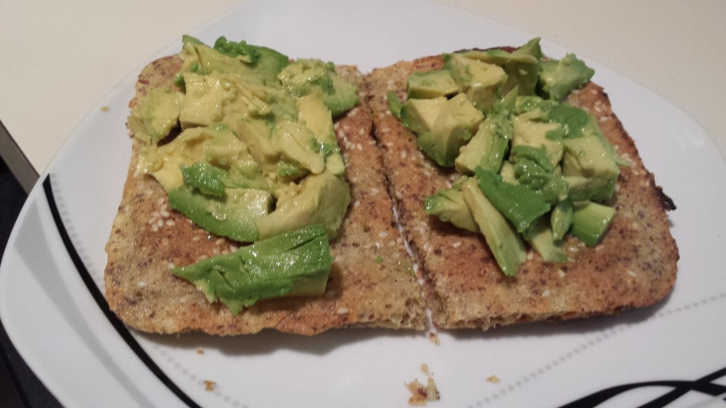 Toasted Paleo Bread WIth Avocado