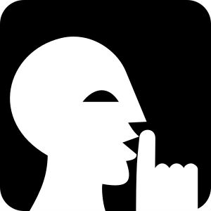 Why Im Learning to Keep My Mouth Shut and You Should TooQuiet Signal Clipart